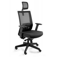Fotel biurowy siateczka   NELY czarny