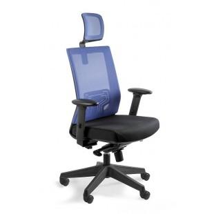 Fotel biurowy siateczka   NELY niebieski