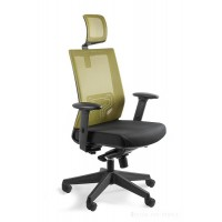 Fotel biurowy siateczka   NELY oliwkowy