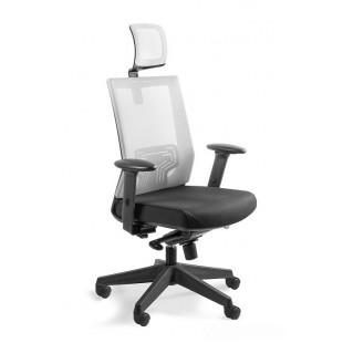 Fotel biurowy siateczka   NELY jasnoszary