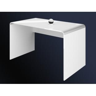 Biurko MILA białe połysk duże 129/65/72 cm