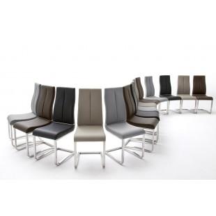 Krzesło na płozie NURIA  4 kolory ekoskóry