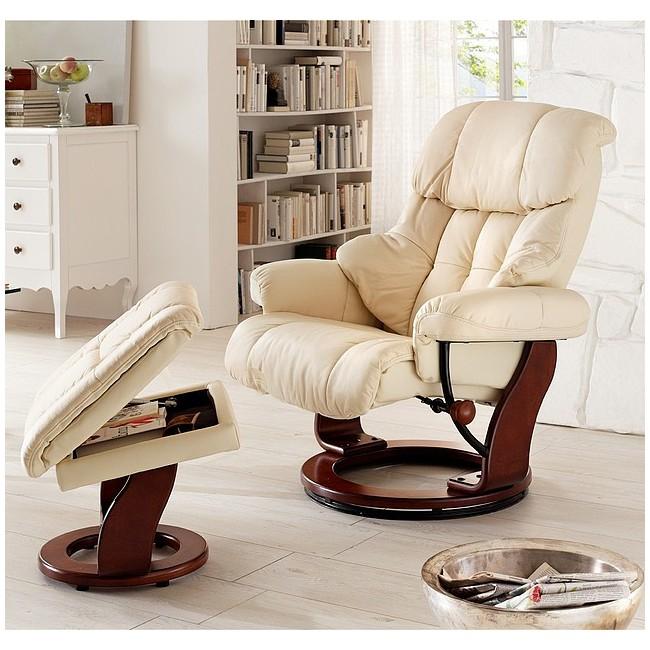 Fotel tv relax + podnóżek - ALTAIR