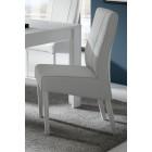 Włoskie krzesło SPINEL 4 nogi - biały /dąb koniak