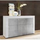 Włoska komoda BARI lc-05 3drz biała beton 138/84/42 cm
