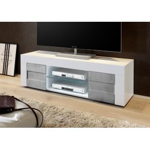 Włoska RTV BARI lc-01 biała beton 138/44/42 cm