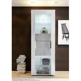 Włoska witryna BARI lc-10 biała beton 61/167/42 cm
