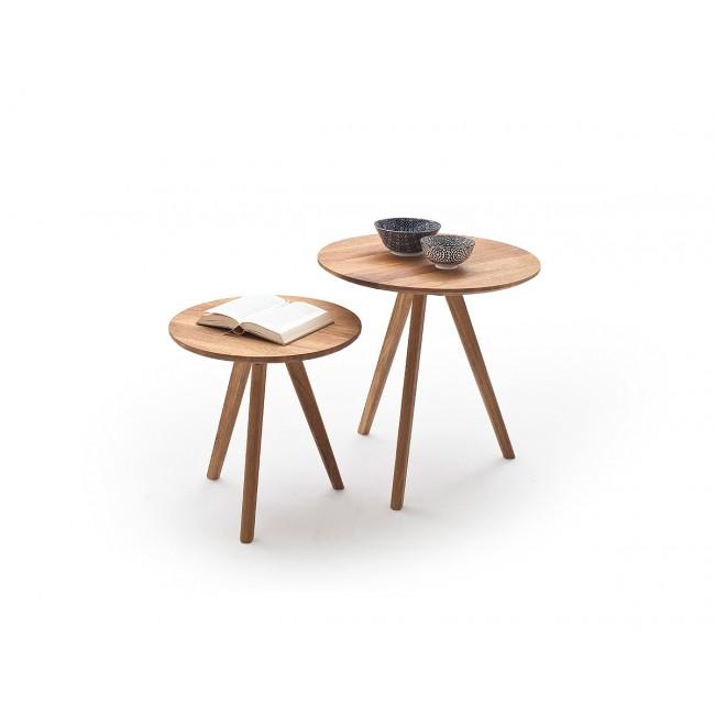 Zestaw dwóch stolików kawowych ENNA dąb sękaty olejowany