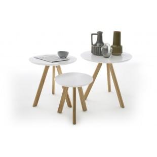 Zestaw trzech stolików kawowych PINIO nogi dąb sękaty olejowany