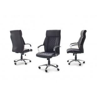 Fotel biurowy GOL czarna ekoskóra chrom