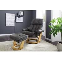 Fotel tv relax + podnóżek ALTAIR XXL