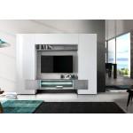Włoska meblościanka TV ASTRA beton 258/37/143 cm