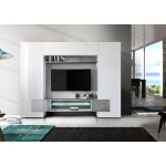 Włoska meblościanka TV ASTRA beton 258/37/191 cm