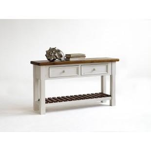 Toaletka z litego drewna sosnowego BODE 130/40/75 cm