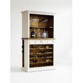 Bufet na wino z litego drewna sosnowego BODE 112/52/190 cm