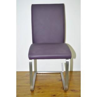Krzesło Paulie II - SKÓRA (fiolet)