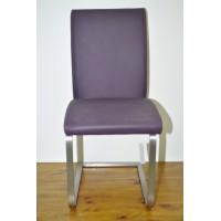 Krzesło Pauline II - SKÓRA (fiolet)