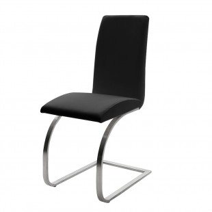 Krzesło Maui - Eko czarna, stelaż stal szlachetna, szczotkowana.1 szt