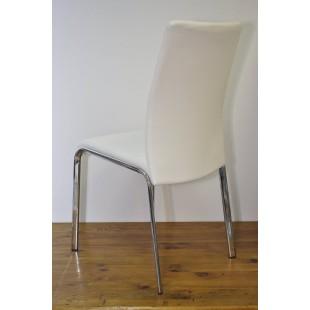 Krzesło Loco - Ekoskóra biała, stelaż chrom. 2 szt