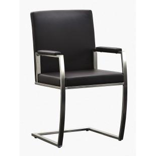 Krzesło Victoria - Eko czarna, stelaż stal szlachetna, szczotkowana. 1 szt
