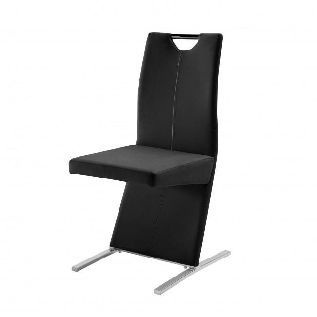 Krzesło Image - Ekoskóra czarna