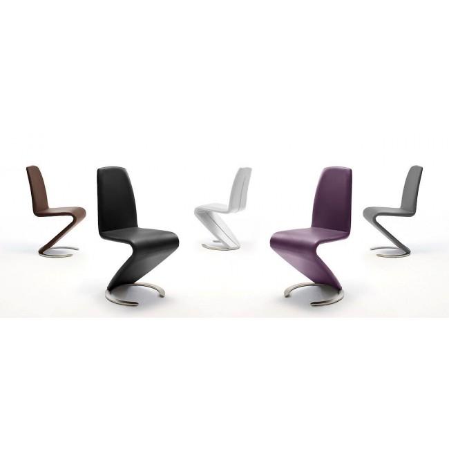 Krzesło Swing - Ekoskóra brązowa.