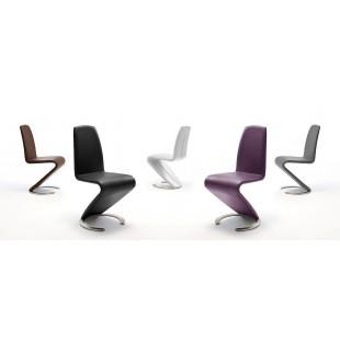 Krzesło Swing - Ekoskóra brąz. 1 SZT.
