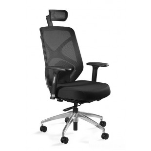 Fotel ERGO czarny siatka/tkanina