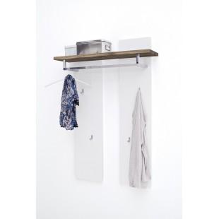 Panel ścienny biały + dąb lity FELICJA  91/25/135 cm