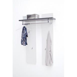 Panel ścienny biały + półka optyka betonu MALTA  91/25/135 cm