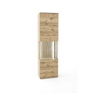 Witryna wąska lewa SANTORINI dąb olejowany bianco 60/37/208 cm