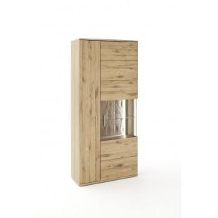 Witryna szeroka SANTORINI dąb olejowany bianco 90/37/208 cm