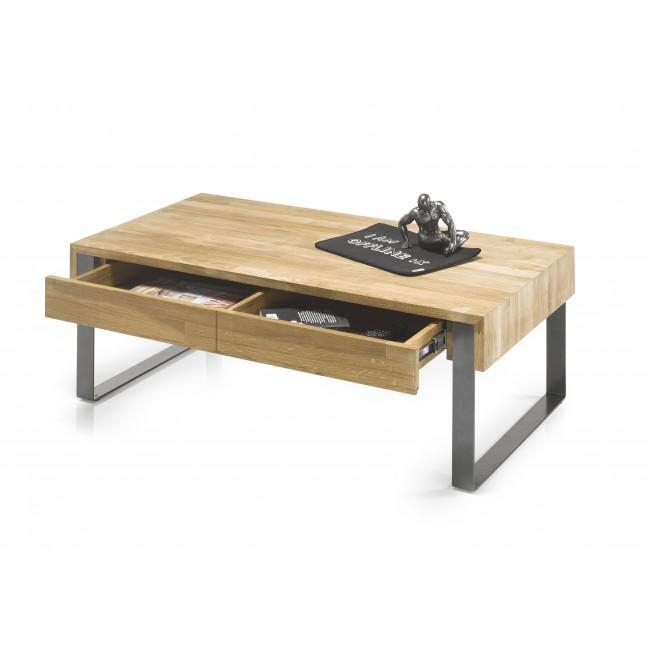 Stolik kawowy MONTREAL drewno dębowe olejowane 110/60/41 cm
