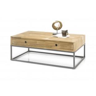 Stolik kawowy OTTAWA drewno dębowe olejowane 110/60/41 cm