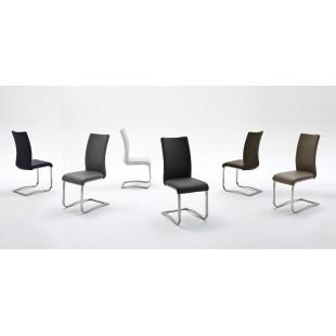 Krzesło ROCO ekoskóra lub skóra naturalna, stal szlachetna