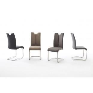 Krzesło ARTUR ekoskóra lub skóra naturalna, stal szlachetna