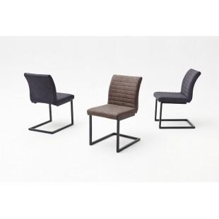 Krzesło na płozie KIA A ekoskóra vintage 47/63/86