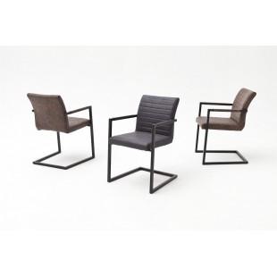 Krzesło na płozie KIA A ekoskóra vintage 54/63/86 podłokietnik