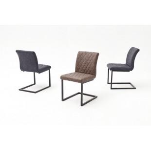 Krzesło na płozie KIA B ekoskóra vintage 47/63/86