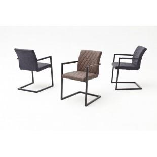 Krzesło na płozie KIA B ekoskóra vintage 54/63/86 podłokietnik