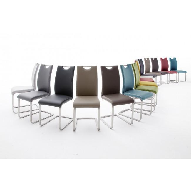 Krzesło PAUL  na płozie, dziewięć kolorów ekoskóry