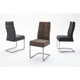 Krzesło na płozie SALVADOR trzy kolory tkaniny antyk