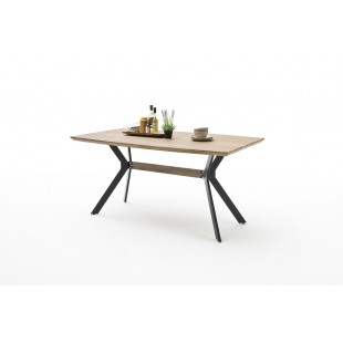 Stół ELI kolor dąb dziki antyk, stelaż metal 160 lub 180 cm