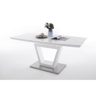Stół rozkładany NIKOLA lakier biały połysk 140-180/90 cm