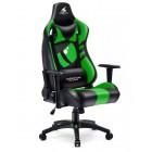 Fotel dla gracza DRAGON GREEN ekoskóra
