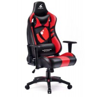Fotel dla gracza DRAGON RED ekoskóra