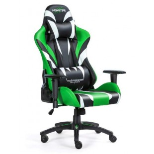 Fotel dla gracza MONSTER GREEN ekoskóra