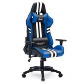 Fotel dla gracza SPORT BLUE ekoskóra