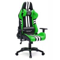 Fotel dla gracza SPORT GREEN ekoskóra