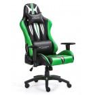 Fotel dla gracza SWORD GREEN ekoskóra